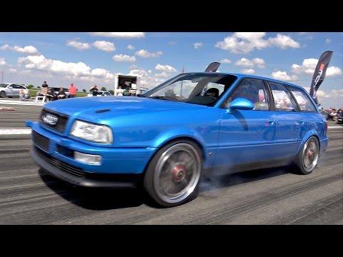 800HP Audi S2 Avant - Fast 1/4 Mile Test Run - PURE TURBO SOUNDS!!