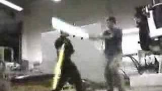 RvD Lightsaber Test (Ryan Vs Dorkman)