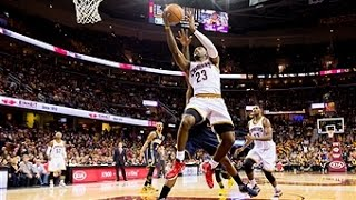 LeBron James Readjusts Mid-Air For the Alley-Oop