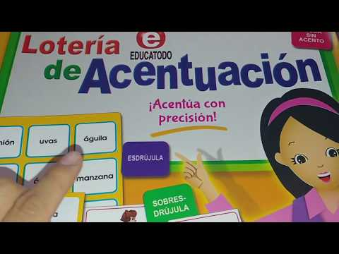 Loteria De Acentuacion Juegos De Mesa Educativos Para Ninos Youtube