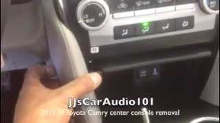 how to remove 2012-2014 Toyota Camry center console