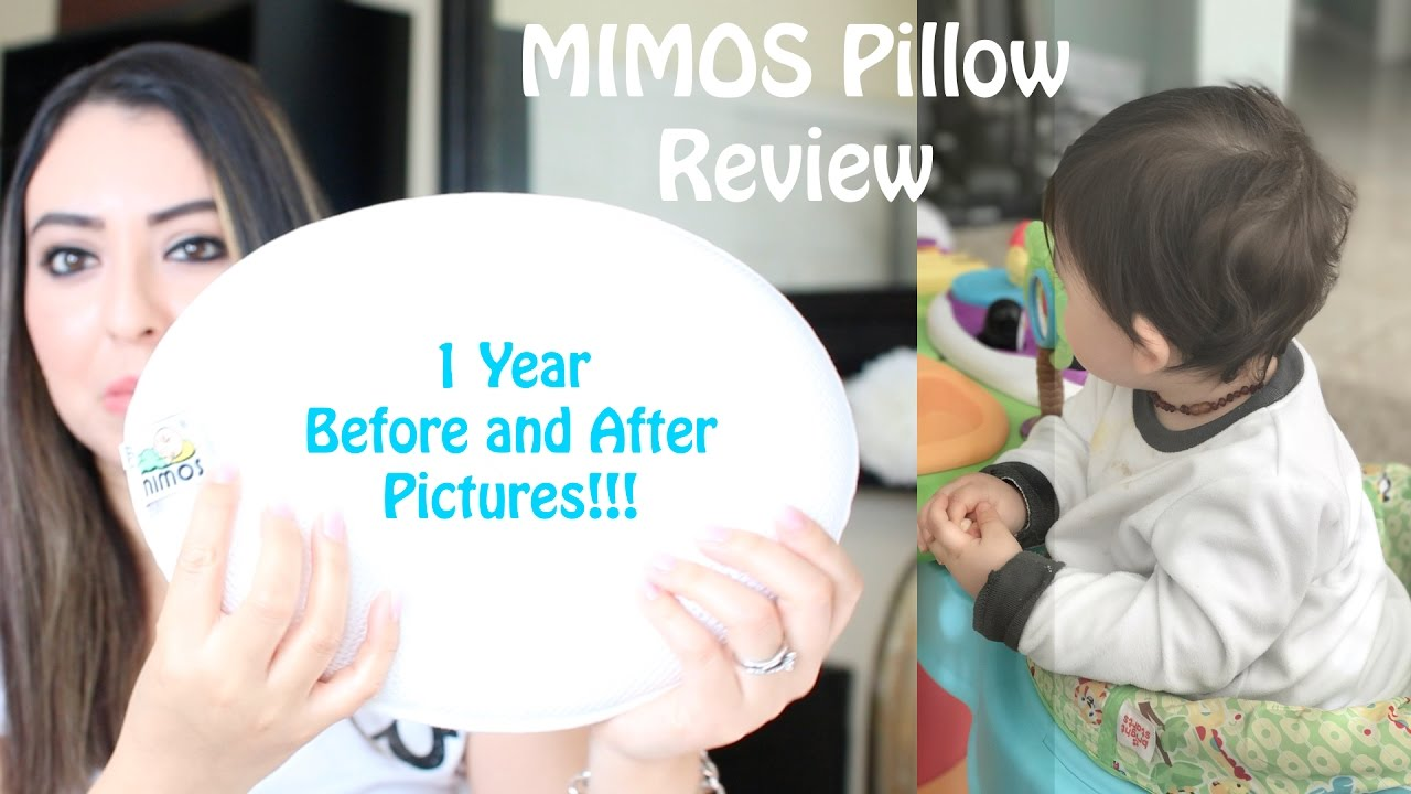 baby flat head mimos pillow review 1 year after with pictures