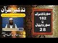 31/98- Surah Al-Aa'raf 182 to Al-Anfal 28 By Hafiz Aakif Saeed