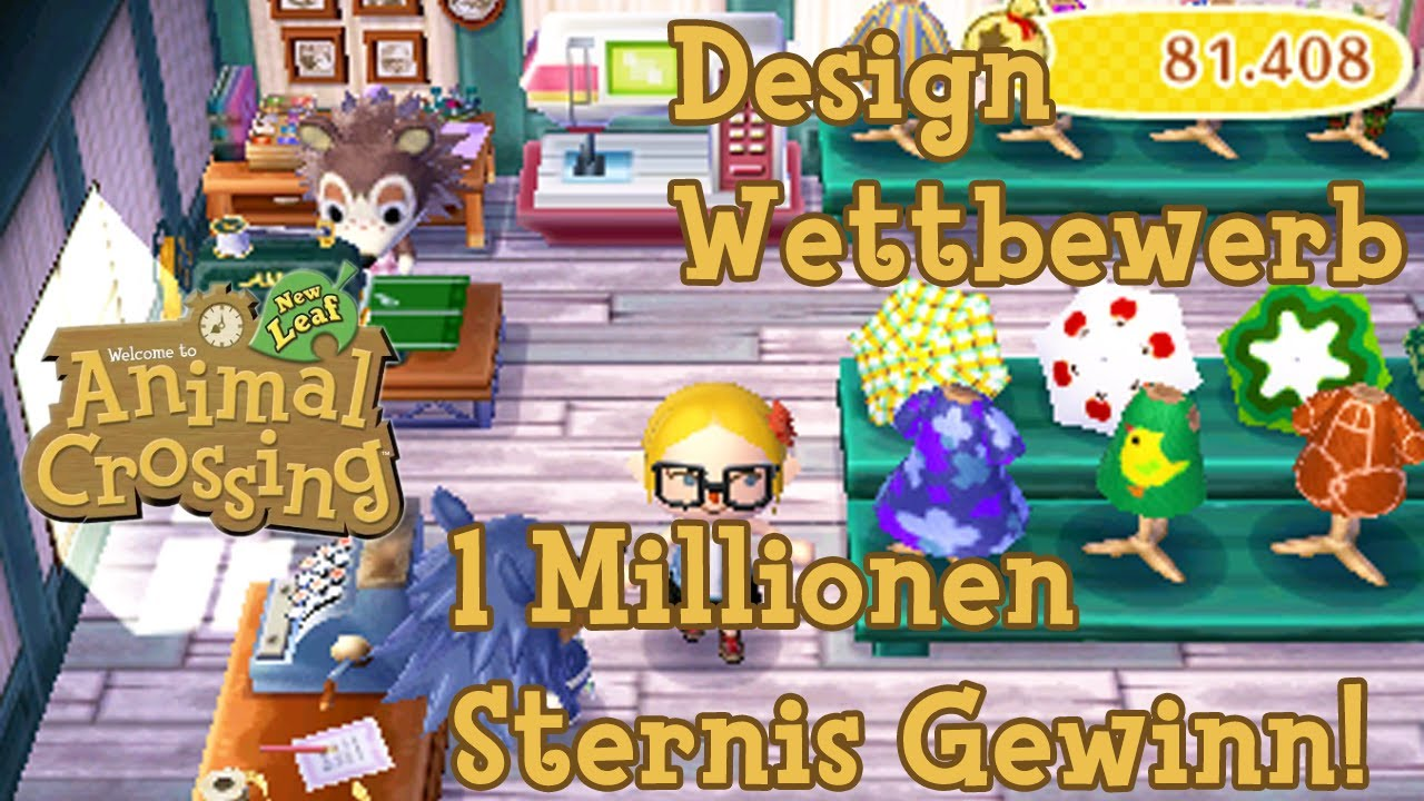 Animal Crossing New Leaf Gameplay Design Wettbewerb 1 Millionen