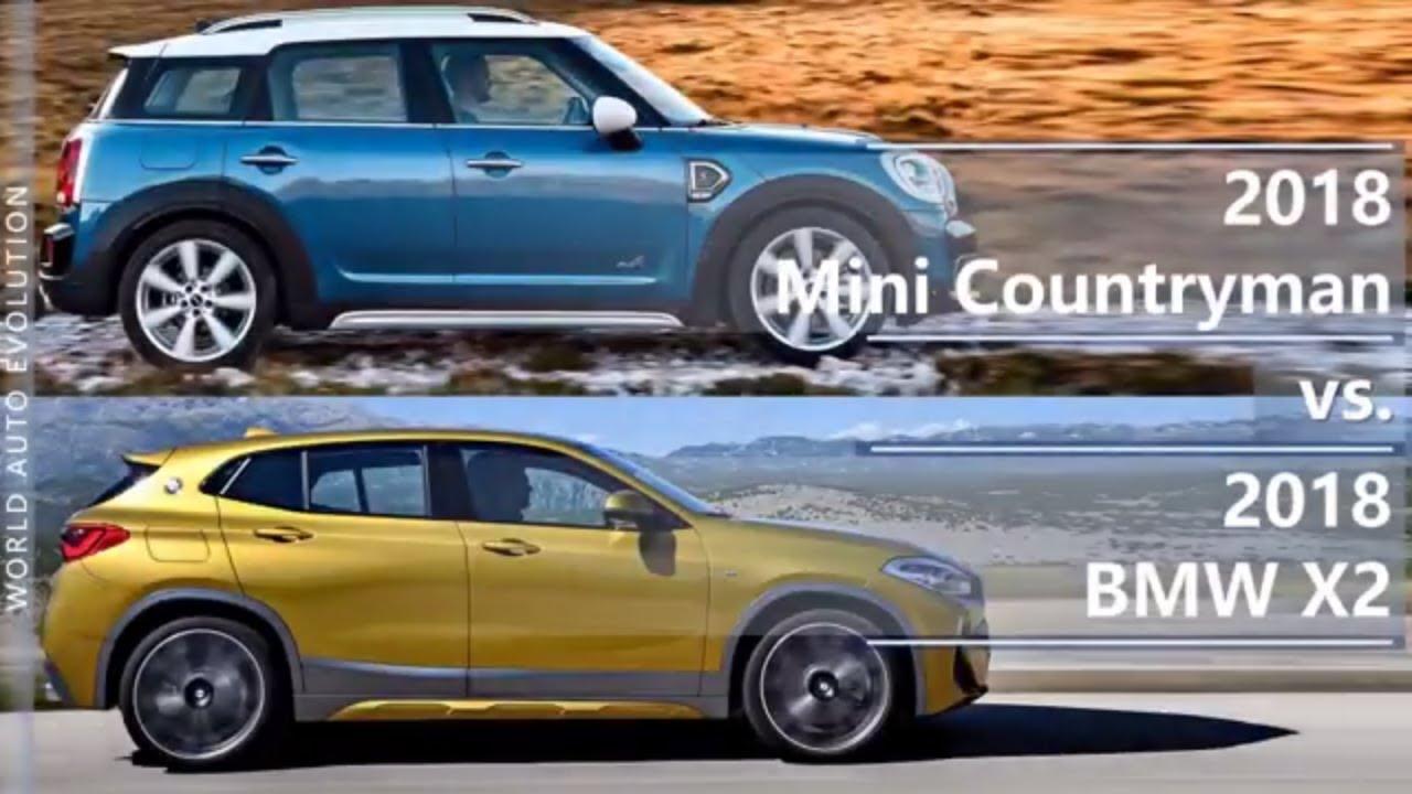 2018 Mini Countryman Vs 2018 Bmw X2 Technical Comparison Youtube