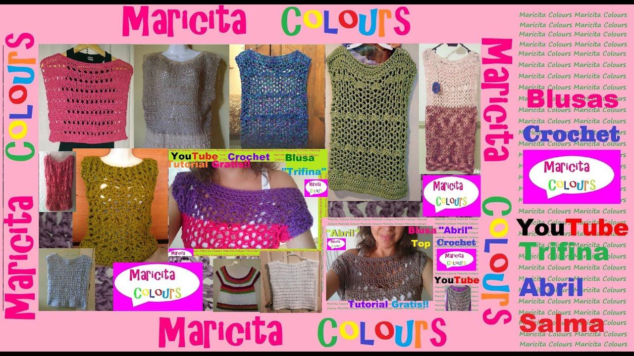 Crochet Blusas Trifina Y Abril De Maricita Colours Tejidas Por Ustedes You