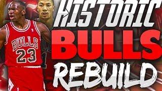 Rebuilding the HISTORIC CHICAGO BULLS!! CAN JORDAN 3PEAT?!! - NBA 2K17 MYLEAGUE