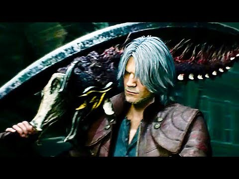 Devil May Cry 5 - DANTE Weapons, Abilities, Devil Trigger, Boss Fight Gameplay Demo
