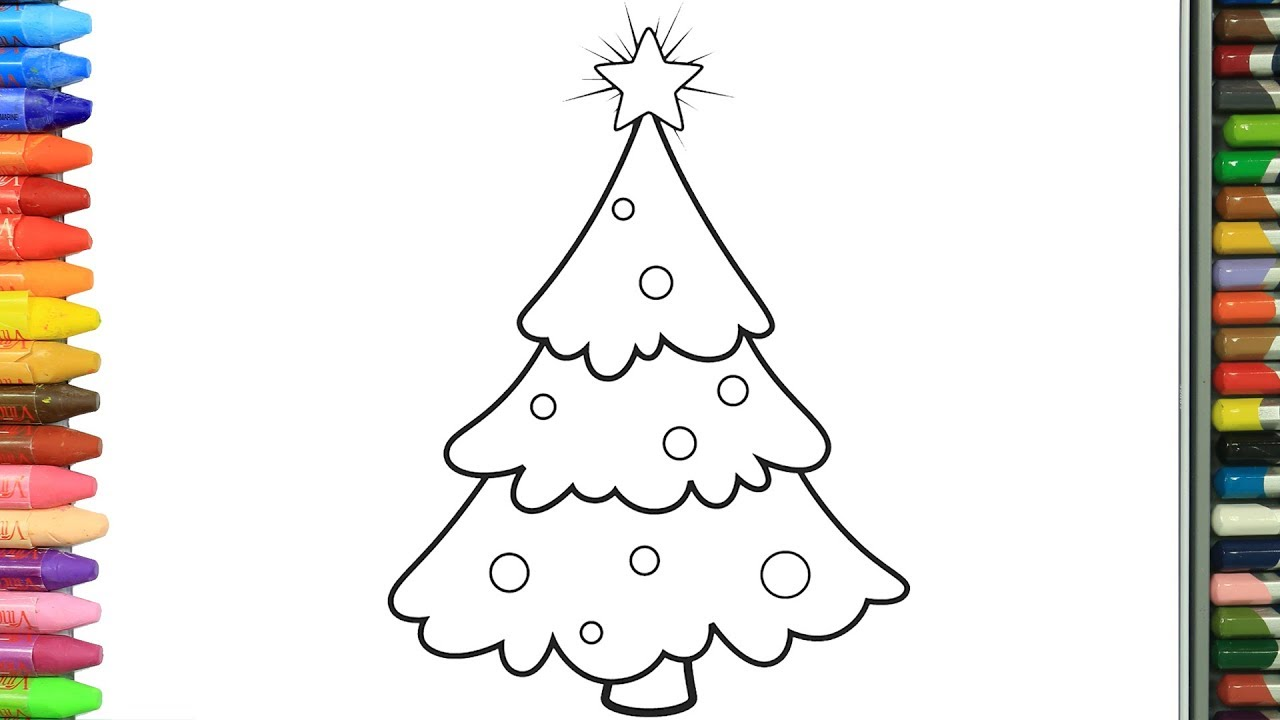 Learn Colors With Coloring Book Christmas Tree