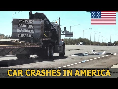 Car Crashes in America (USA) bad drivers, Road Rage 2018 # 24