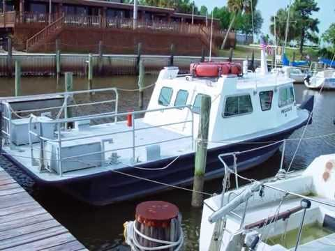 Passenger Crew Boat For Sale - MonArk Aluminum V Hull