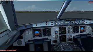 FSX & ProAtcX Flights LIRF LFPG A320 Startup to Takeoff