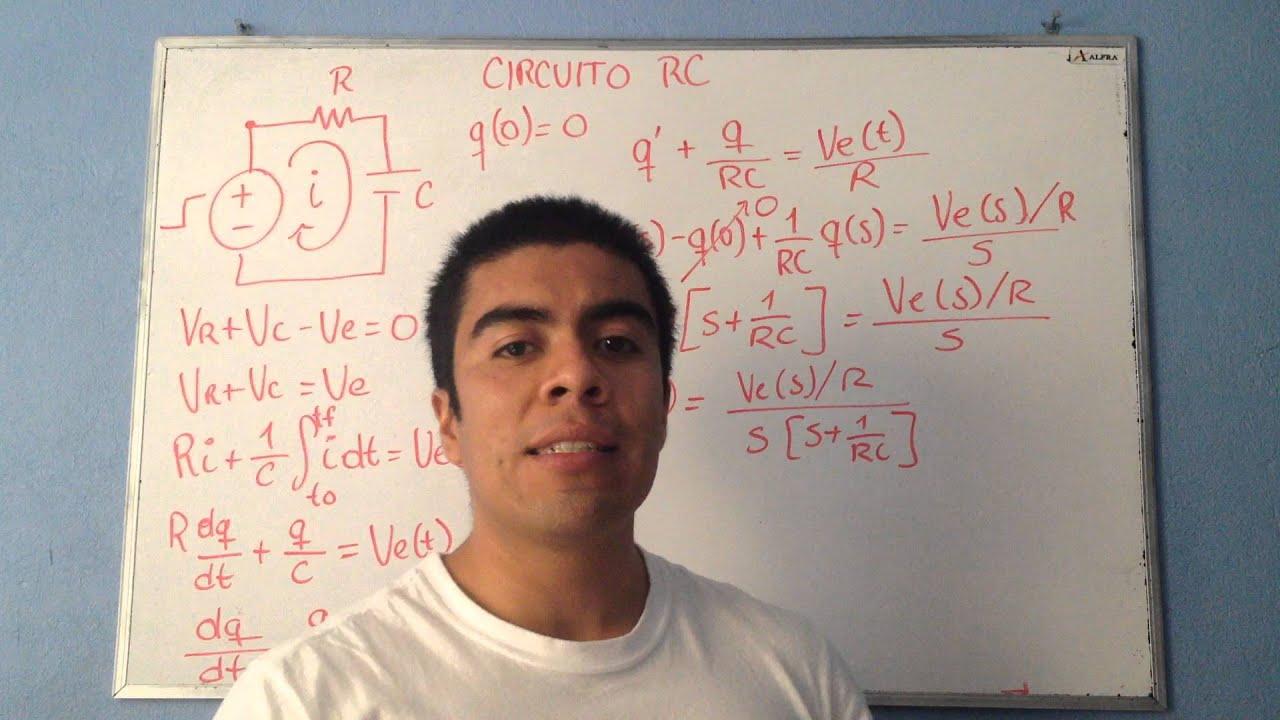 Circuito Rc : Ecuación diferencial de un circuito rc youtube