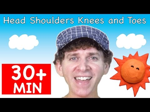 Head Shoulders Knees and Toes | Plus More Songs | 30 + Minutes of Kids Songs