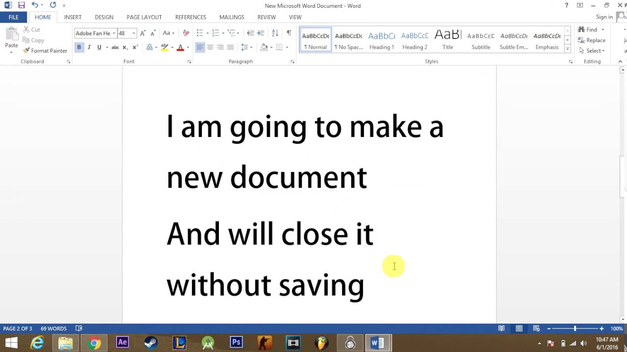 How to recover Unsaved or accidently closed MS word