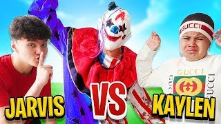 Fortnite CLOWN PRANK on MindofRez\'s Little Brother (FaZe Jarvis Vs Kaylen)