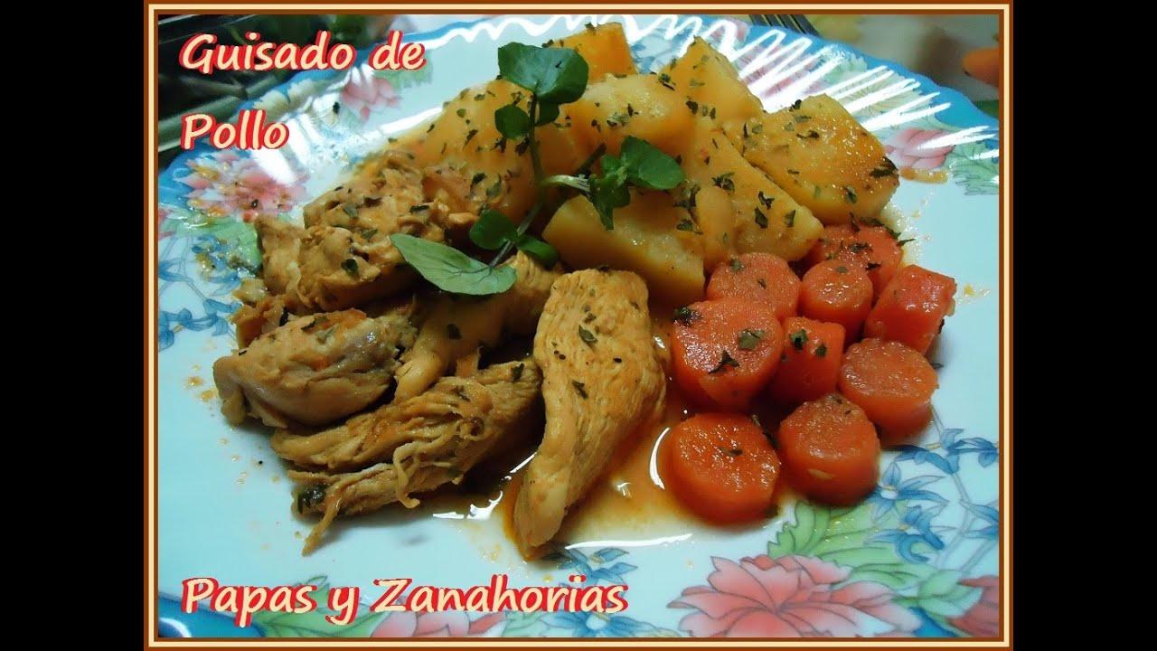 Guisado De Pollo Con Papas Y Zanahorias Receta Fácil
