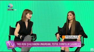 Teo Show(02.04.) - Theo Rose si Alexandra Ungureanu, testul cuvintelor sugubete! Cum s-au descurcat?