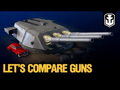Dry Dock: Guns Comparison. Which ship is the most powerful?