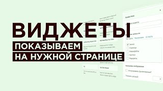 видео Виджеты в WordPress