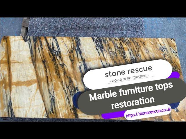 Marble furniture top restoration