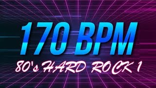 170 BPM - 80's Hard Rock - 4/4 Drum Track - Metronome - Drum Beat
