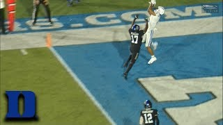 Duke's Eli Pancol Makes A Great Touchdown Catch