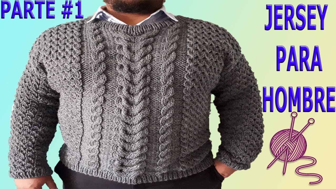 Dos En 1 Sweater Parte Hombre Knitting Sueter Agujas Tejido Para xqZHqIU