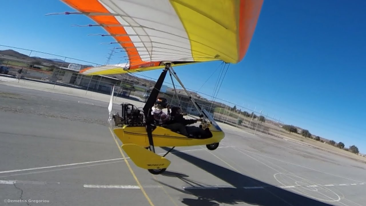 Ultralight Trike Shortfield Takeoff, Touch and Go and Landing at R/C  Airfields! Onboard cameras!