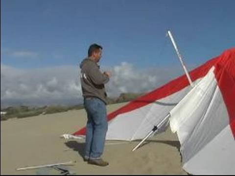 Hang Gliding Basics for Beginners : Setting Up the Wings for a Hang Glider