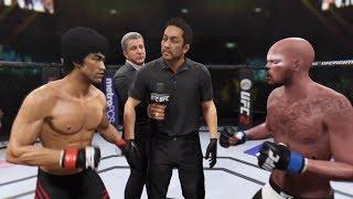 Bruce Lee vs. Bad Cat (EA sports UFC 2) - CPU vs. CPU