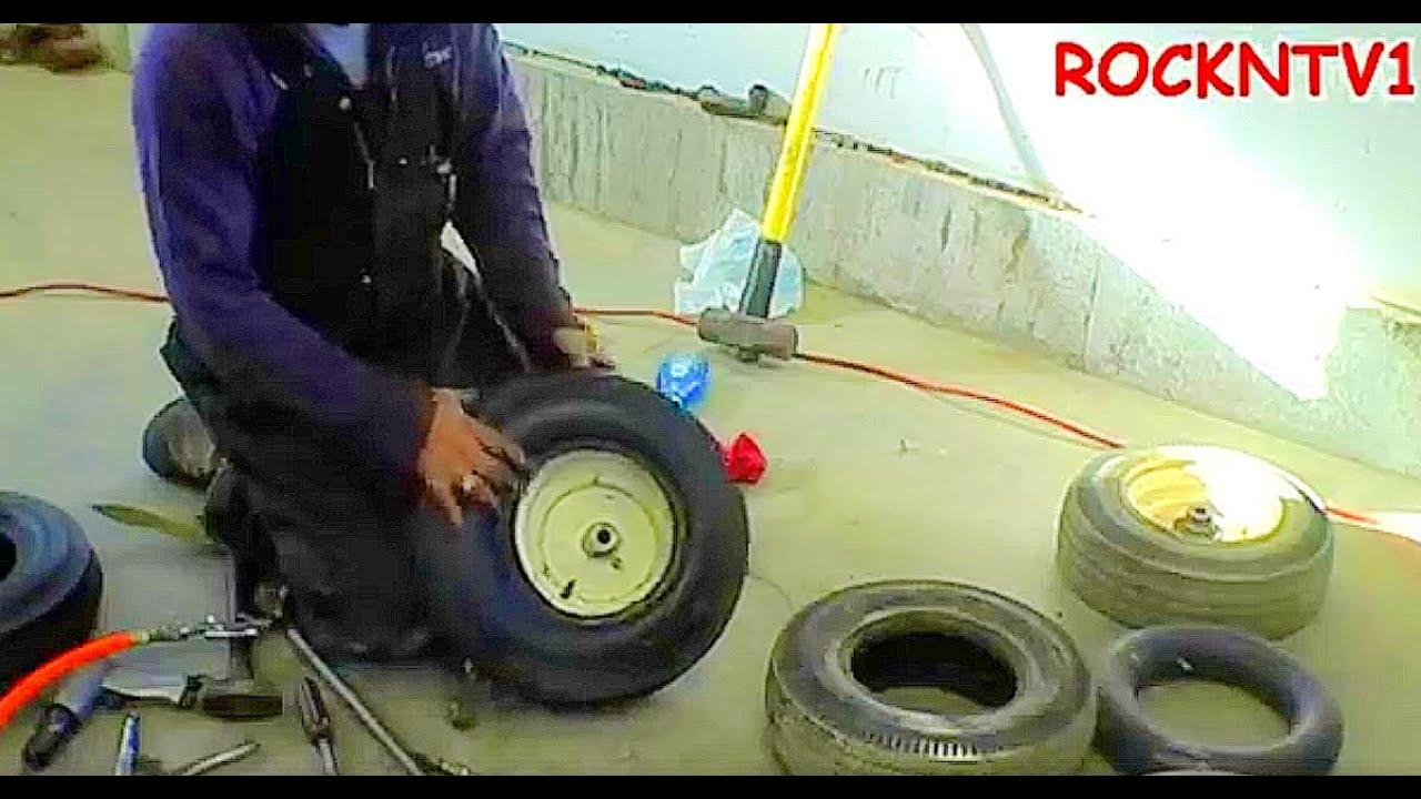 Change Lawn Mower Tires By Hand Tri Rib Tires Garden