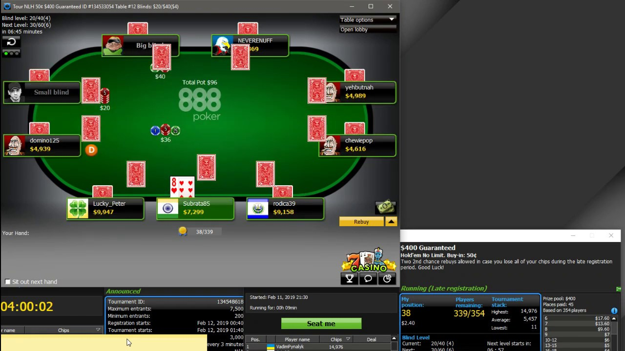 888 Poker 400 Online Poker Texas Hold Em No Limit Live