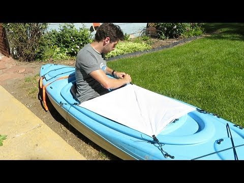 Kayak Camping Modifications (Tie-Outs And DIY Spray Skirt)