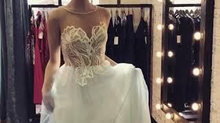 Голубое свадебное платье Demi