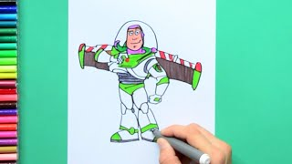 Gambar cover How to draw Buzz Lightyear [Pixar Toy Story]