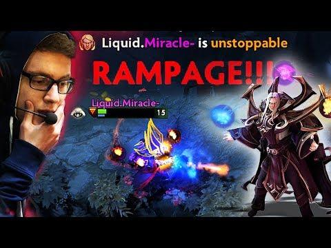 Liquid.Miracle- EPIC Invoker God Vs LGD + Rampage - Dota 2 (Player Perspective)