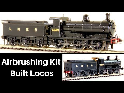 Airbrushing Kit Built Locomotives – How To