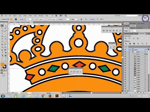 59. Adobe Illustrator Tutorials: Real Madrid Logo - Khmer Computer Knowledge