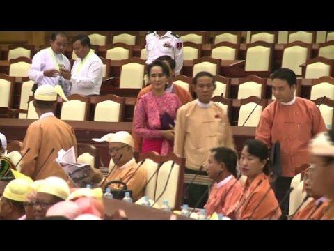 New era dawns as Suu Kyi's party strides into Myanmar parliament