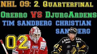 NHL 09: 2.QUARTERFINAL SHL: Örebro vs Djurgardens [CZ] český letsplay