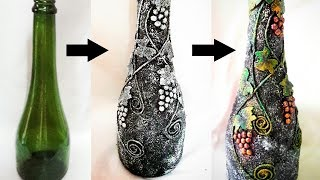Bottle decorating ideas DIY | Bottle craft | Bottle decoration | bottle art | bottle design
