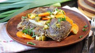 Тушеная говядина куском в мультиварке рецепт простого мясного блюда на обед или ужин