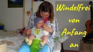 Abhalten / Windelfrei / Baby macht pipi und kacka in den Topf