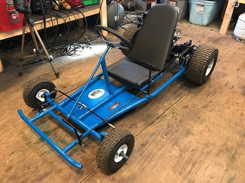 painting the two speed go kart