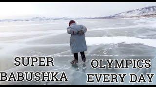 VIRAL Russian Babushka Skates To Work Across Worlds Deepest Lake Baikal On Ancient Ice Ska ...
