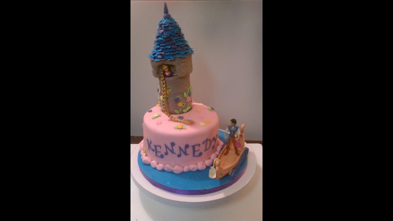 Tangled Tower Cake Youtube