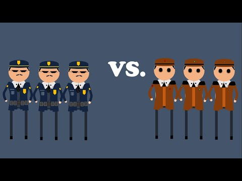 ¿Por qué tener una policía pública es una mala idea? Seguridad pública contra seguridad privada.