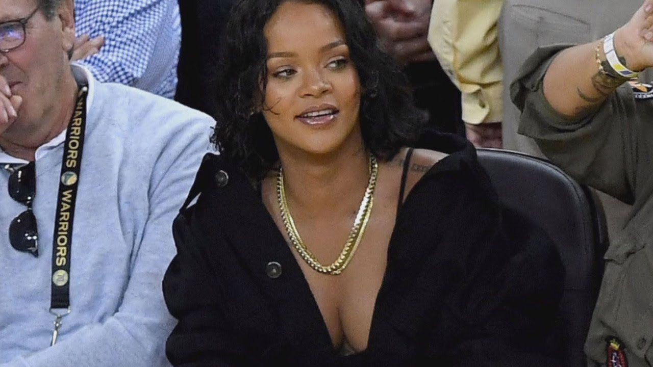How Rihanna Stole The Show Without Performing At The NBA Finals Game - YouTube