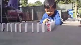 funny face domino challenge